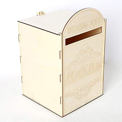 Hölzerne Mailbox Royal Mailbox Dekoration Hochzeit Party Supplies Karte Geschenk Aufbewahrungsbox personalisierte Memorial Box 5 Arten verfügbar