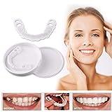 ZLLYT Dents Cosmétiques Silicone Dents Artificielles Blanchiment La Plus Confortable pour Dentier Care avec La Technologie Avancée Anti Dérapant