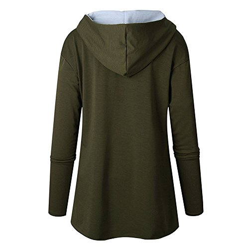 Femmes Sweat-Shirts Arrêtez-Vous Sweat À Capuche Irrégulier Ourlet Tops Décontractée Sport Énorme Sweat À Capuche Longue Manche Tops Kootk Vert