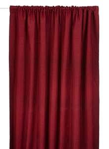 Curtina Türvorhang Kent, 168x213cm, mit 7,6 cm breitem Gardinenband, rot