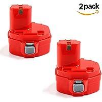Forrat pour Makita 14.4V 3.0Ah Ni-NH Replacement Batterie Pa14 1420 1422 1433 1434 435 1435F(2packs)