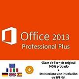 MS Office 2013 Professional Plus 32 Bits y 64 Bits - Clave de Licencia Original por Correo Postal y Electrónico + Instrucciones de TPFNet - Envío Máximo 60min