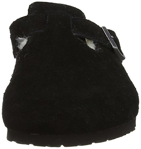 Birkenstock Boston, Boston Fur mixte adulte Noir