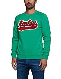 Replay Men's Men's Green Sweatshirt 100% Cotton