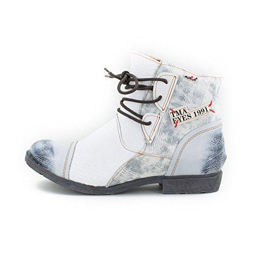 TMA SEELENlook Damen-Schuhe, Echtleder >                     Boots, Stiefeletten, Größen 36-42/43 Schneeweiß