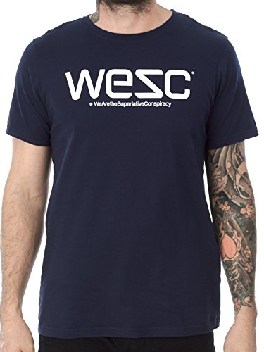 WESC, T-Shirt Uomo, Blue (Navy Blazer), M