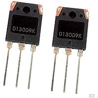 Milageto 6xD13009K NPN Transistor De Conmutación De Potencia De Alto Voltaje TO3-P 3 Pines 100W 12A