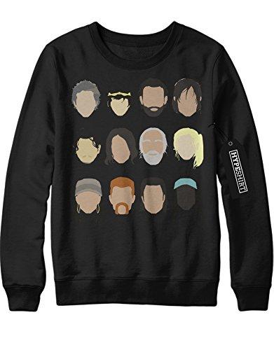 Sweatshirt The Walking Dead TWD Characters C980045 Schwarz M