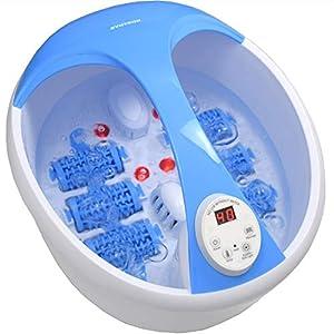 Syntrox Germany Fusprudelbad Fuss Reflexzonenmassage Massagegert Fsb 450w Spa Mit Infrarotlicht Vibrations Sprudelmassage Wasserheizung