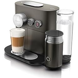 Nespresso De'Longhi Expert Milk EN355.GAE - Cafetera monodosis de cápsulas Nespresso + aeroccino, controlable con smartphone via bluetooth, recetas ajustables, 19 bares, apagado automático, antracita