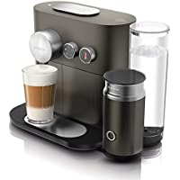 De'longhi Nespresso Expert & milk EN350.G - Cafetera de cápsulas nespresso (19 bares, conectividad con smartphone), color gris y aluminio
