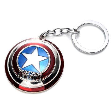 Beaux Bijoux Marvel 's The Avengers Captain America Shield Schlüsselanhänger-Cosplay Zubehör (America Weihnachten Captain)
