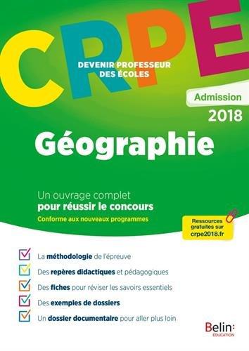 Géographie : Epreuve orale d'admission CRPE