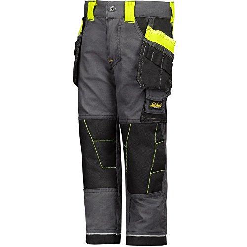 snickers-workwear-7501-pantalones-infantil-color-stahlgrau-hv-gelb-talla-116