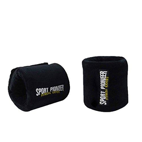 grofitness Kinder Handgelenk Gewichte Paar Set verstellbar Handgelenk Krafttraining, 3/4Pfund je, schwarz (Sleeks-unterstützung Körper)