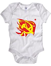 Cotton Island - Body Bebe TCO0013 hammer-and-sickle-on-the-flame-star-communism-symbol