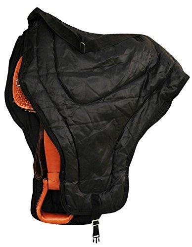 Reitsport Amesbichler Westernsattel Tragetasche Schutztasche für Sättel Schutz und Aufbewahrung schwarz, mit Schulterriemen