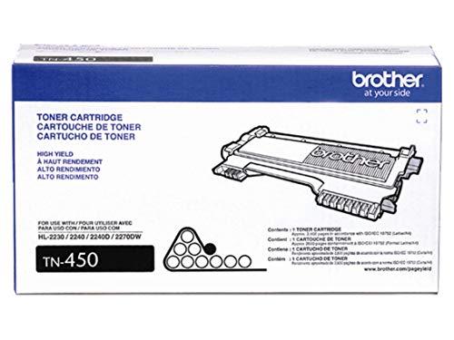 Brother TN450Hohe Ergiebigkeit Toner Cartridge-Black-Laser-2600Seite-jeweils 1 - 1 Ea-toner-patrone