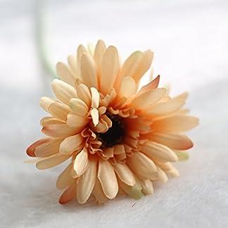 SMARTrich Gerbera Flor Girasol Exportaciones Hogar Decorativo Artificial Flores Plantas Simulación, Amarillo, 55 cm
