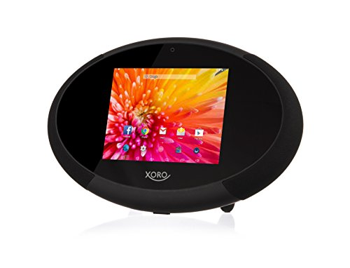 Xoro HMT 400 22,6 cm (8 Zoll) Internet TV/Radio mit Web Media Player (1,5 GHz Dual Core, 1GB RAM, 8GB interner Speicher, WLAN, Bluetooth 4.0, HDMI, DLNA, Wetterstation, Android 4.4) schwarz/weiss