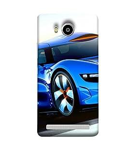 Takkloo Blue car car for men,car for women, classy car, trendy car, luxury car) Printed Designer Back Case Cover for Lenovo A7700