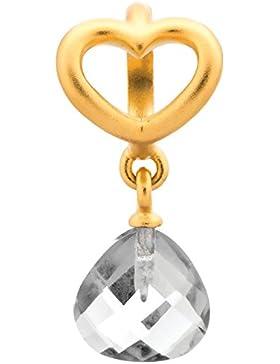 Endless Clear Heart Grip Drop Element Silber Vergoldet 53302-1