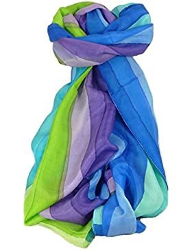 Bufanda de Seda de Morera Rainbow Classic Kalita de Pashmina & Silk