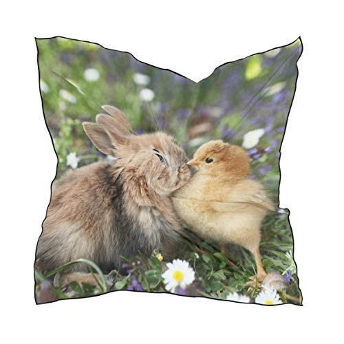 Hipiyoled Rabbit And Chick Are Kissing Square Scarf Handkerchief Neck Head Scarvesch Tuff-dome