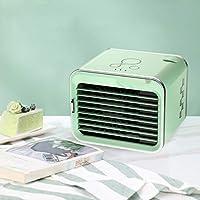 LLDKA Pequeño refrigeración doméstica Enfriador de Aire Acondicionado Ventilador Mini Dormitorio con Agua del Aire Acondicionado Ventilador de Escritorio portátil,Verde