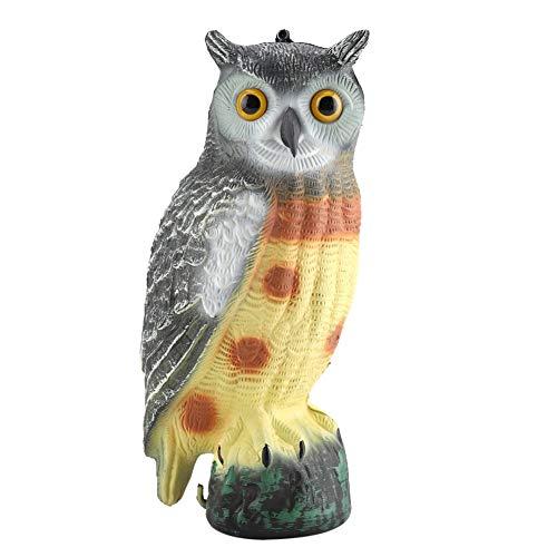 MAGT Eule Gartendekorationen - Prowler Owl, Vogelscheuche Gefälschte Eule Lockvogel, Garten Eule Tier Für Abweisende Deter Vögel, Schädlinge & Eichhörnchen (7,48 X 7,87 X 15,75 Zoll) -
