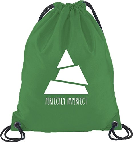 Perfectly Imperfect, Triangle Dreieck Turnbeutel Rucksack Sport Beutel Kelly Green