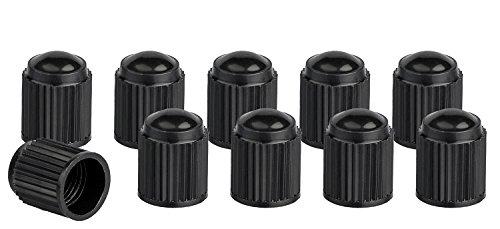 Xunits Ventilkappen Fahrrad – Schraderventil auch AV – Autoventil auch für MTB oder BMX Räder aus Plastik in schwarz – Set aus 10 Ventilen - 4