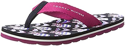Tommy Hilfiger M3285arlow 8d1, Sandalias de Punta Descubierta para Niñas