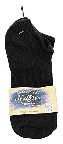 Maggie's Organics - Formato di Footie del cotone dei calzini 9-11 nero - 1 (Maggie Nero)