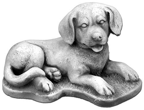 gartendekoparadies.de Massive Steinfigur süsser Hund Labrador aus Steinguss frostfest