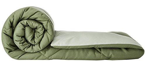 Solimo Microfibre Reversible Comforter, Single (Mossy Green & Pistachio Green, 200 GSM)