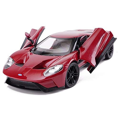 Modello di auto Modello di auto 1:24 Ford GT Sports Car modello in lega auto giocattolo auto da collezione decorazione regalo di festa (colore : Red)