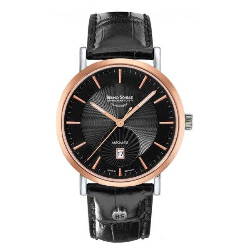 Bruno Söhnle Lagomat Automatik 17–62096–745–Reloj de pulsera de hombre, correa de piel color negro