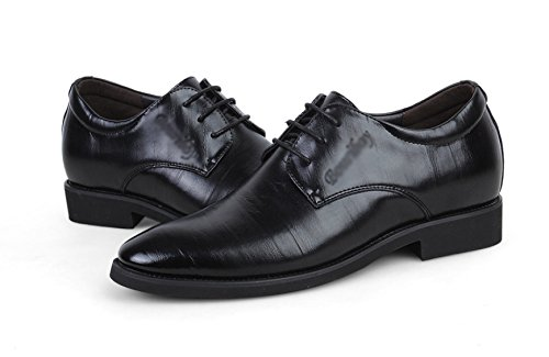 Schuhe Herbst Winter Gehobenen Schöne Atmungsaktive Warme Runde Schuhe Leder Oxford Schuhe,Black-26(cm)=10.23(in)=EU41=UK7 (Gehobene Kleid)