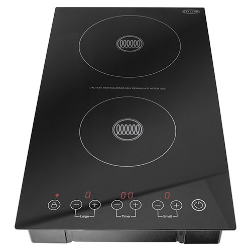 Stellar Double Induction Hob, Black, 3100 W