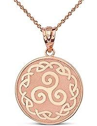 Anhänger Keltischer Knoten mit Kette 24 Karat Vergoldet Keltisch Charm Gold