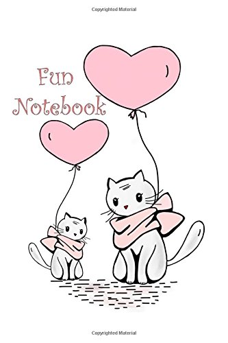 Fun Notebook: Mini Composition Notebook For Girls, Small Journal sized 6 x 9, 120 cream colored pages, Fun Kittens (Mini Katze Journal)