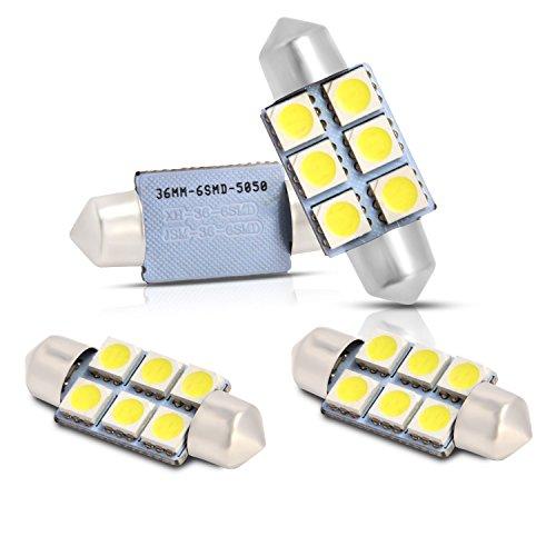 Preisvergleich Produktbild Neuftech 4 X 36mm 6 5050 SMD c5w KFZ LED Soffitte Auto Lampe Innenraum Kennzeichenbeleuchtung -weiß 12v