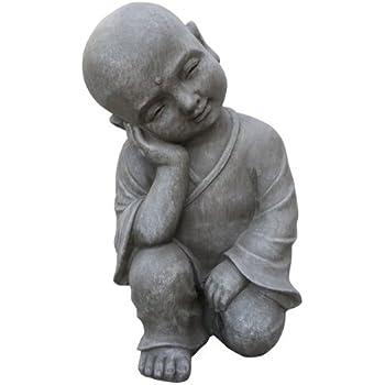 bouddha statue tr s grande 41 5cm jardin pour int rieur et ext rieur statuette tinas. Black Bedroom Furniture Sets. Home Design Ideas