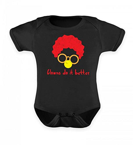 (ClassicLounge Hochwertiges Baby Body - Clown - Zirkus - Geschenk - Karneval - Kostüm - Circus - Gift: Clowns Do It Better)