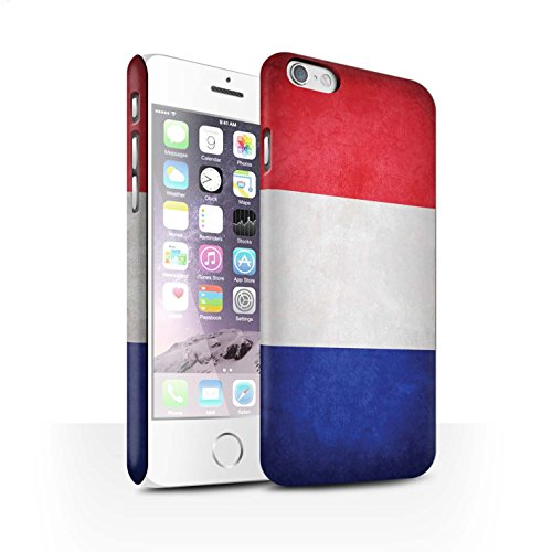 Clipser Matte Coque de Stuff4 / Coque pour Apple iPhone 5/5S / Chili/Chiliean Design / Drapeau Collection France/français