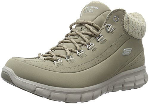 Skechers Synergy Winter Nights, Stivali Bassi Non Imbottiti Donna, Beige (Stn), 38