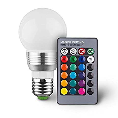 Stella E27 3W RGB LED Light Bulb 16 Colors Changing
