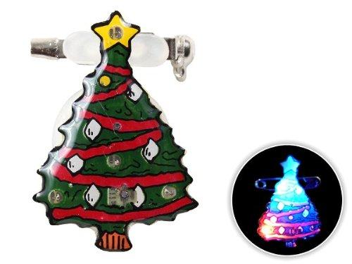 Spilletta LED con luce intermittente per natale (b-61) spilla pin badge festa natalizia babbo natale accessorio effetto luminoso batterie incluse pupazzo di neve albero campanello regalo renna - Pupazzo Pin Spilla