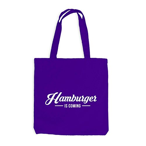 Jutebeutel - Hamburger is coming - Hamburg HH Style Violett
